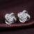 Fashion 925 Sterling Silver Crystal Cross earrings for women Rhinestone Statement Fine Earrings Jewelry For Women Girls Gift