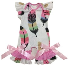 Фиолетовые, зеленые, Золотые полоски, Одежда для младенцев с принтом на заказ, Шелковый молочный комбинезон, комбинезон, Детские платья для ...(Китай)