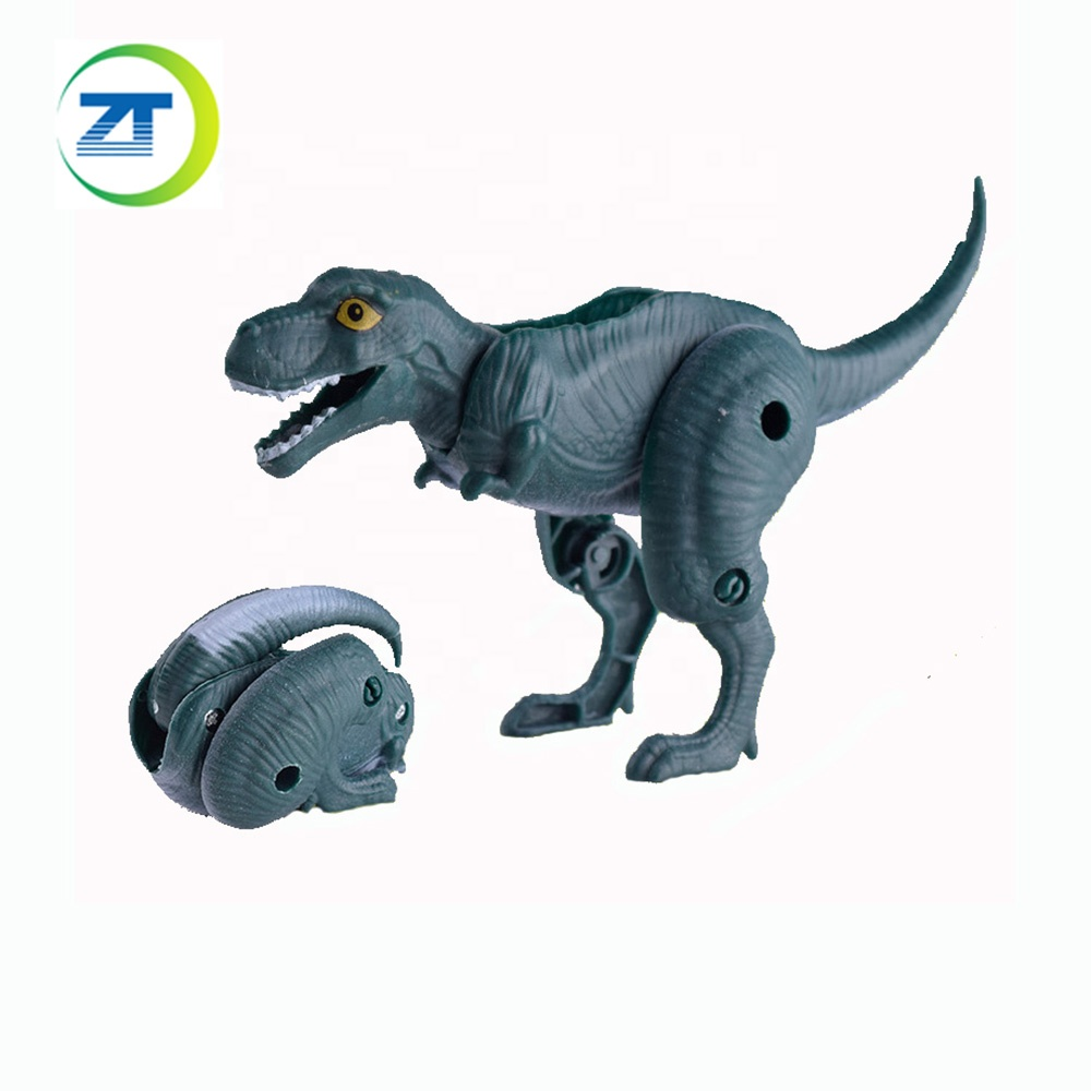 Оптовая продажа Забавные игрушки деформированные Динозавр яйцо капсула игрушка мультфильм маленький дикий мини 3d дети пластик ферма динозавр