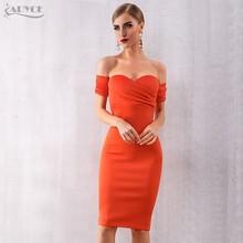 Женское платье с открытыми плечами ADYCE, цвет бордовый/оранжевый, платье с вырезом-лодочкой, вечернее облегающее платье, лето 2019(Китай)