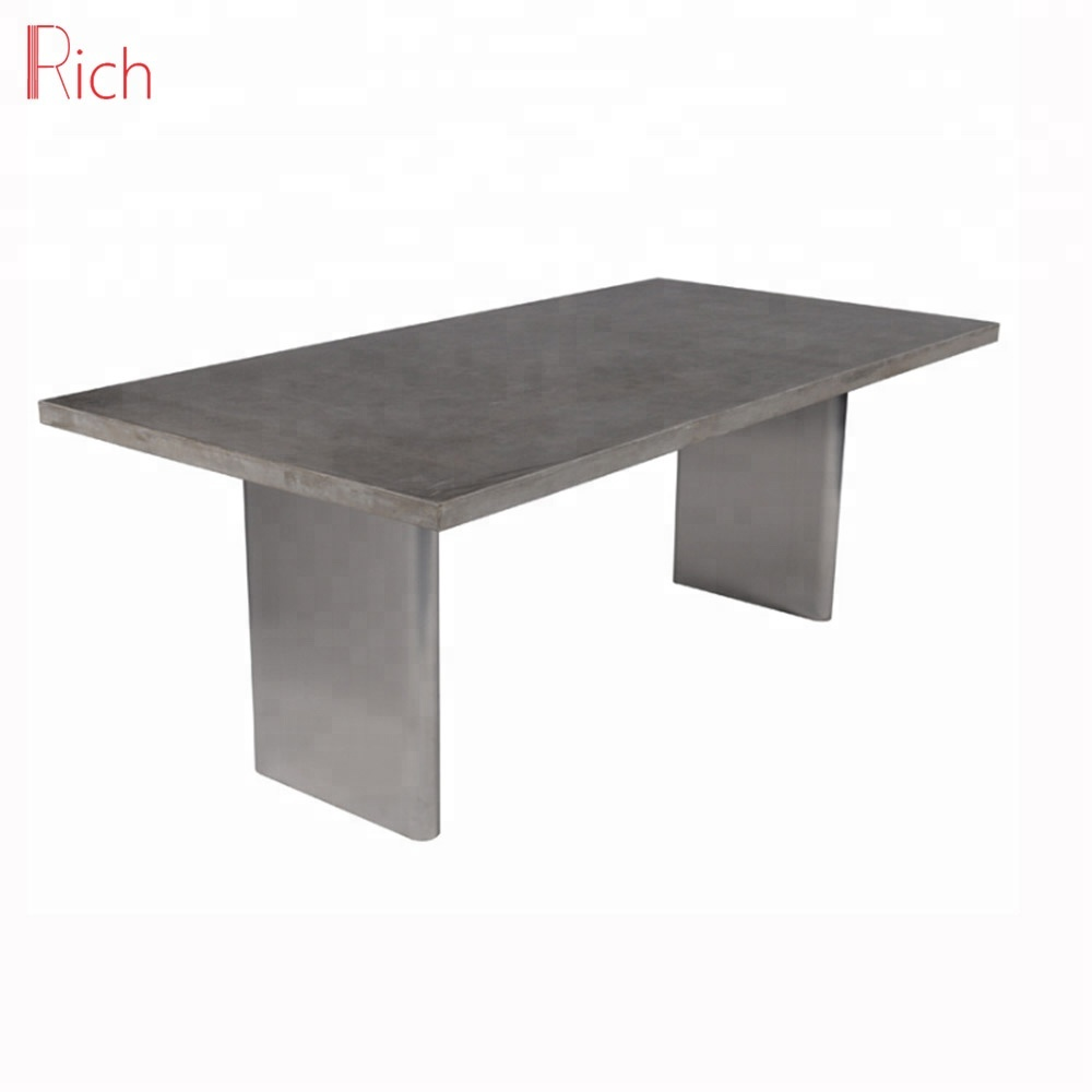 Outdoor Concrete Furniture Dining Table Square Cement Top Garden Table View Cemnet Table Rich Product Details From Foshan Rich Furniture Co Ltd On Alibaba Com