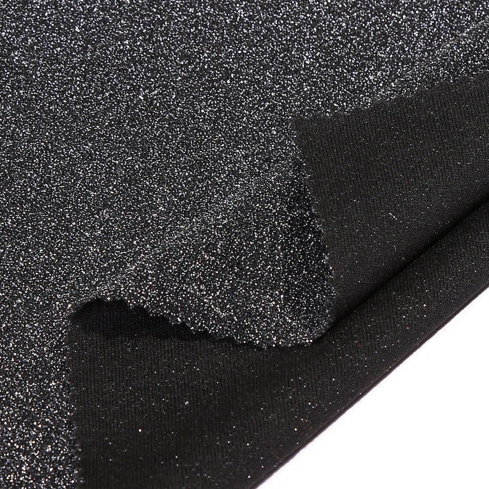 fashion soft custom colors shiny sparkling knitted metallic fabric hot sale for USA and Euro