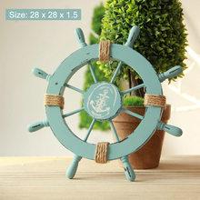 Морские деревянные украшения для дома, Аксессуары для морской лодки, руля, статуэтки, Морская звезда, Акула, рыба, спасательный буй, дверная ...(Китай)