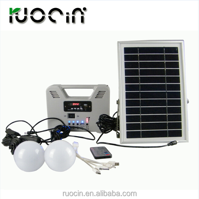 Power Solution Solar LED Home Lighting Kits For Poor Electricity