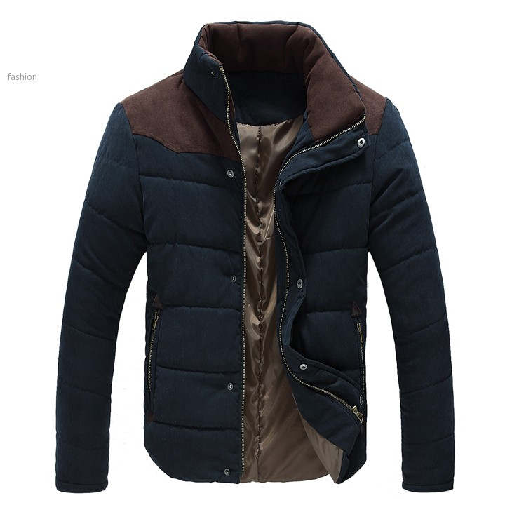 2015 New Men Winter Jacket Warm Thermal Wadded Jacket