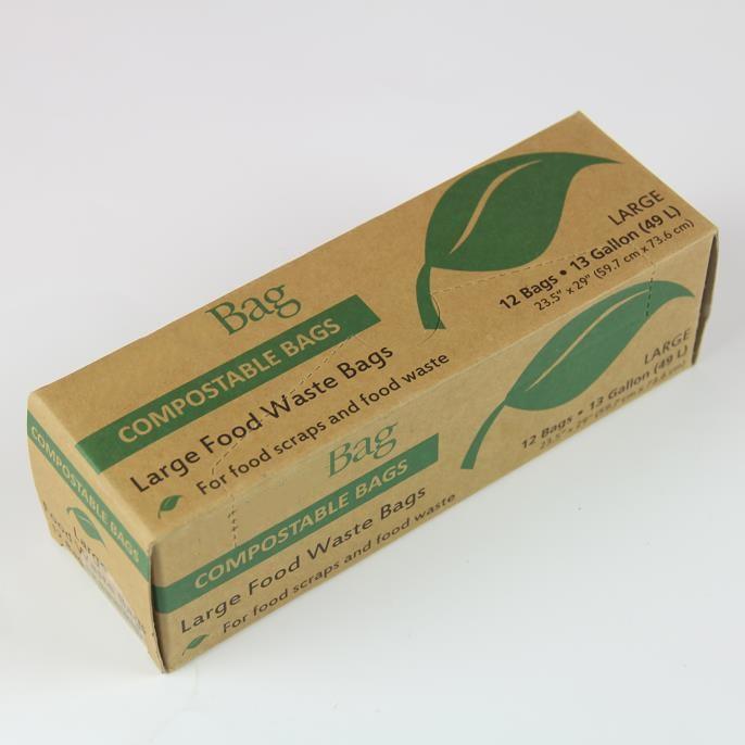 Биоразлагаемые мешки на основе пла-кукурузы, биоразлагаемые пластиковые мешки для мусора 100%, мешки для мусора