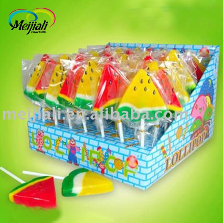 watermelon shape lollipop candy