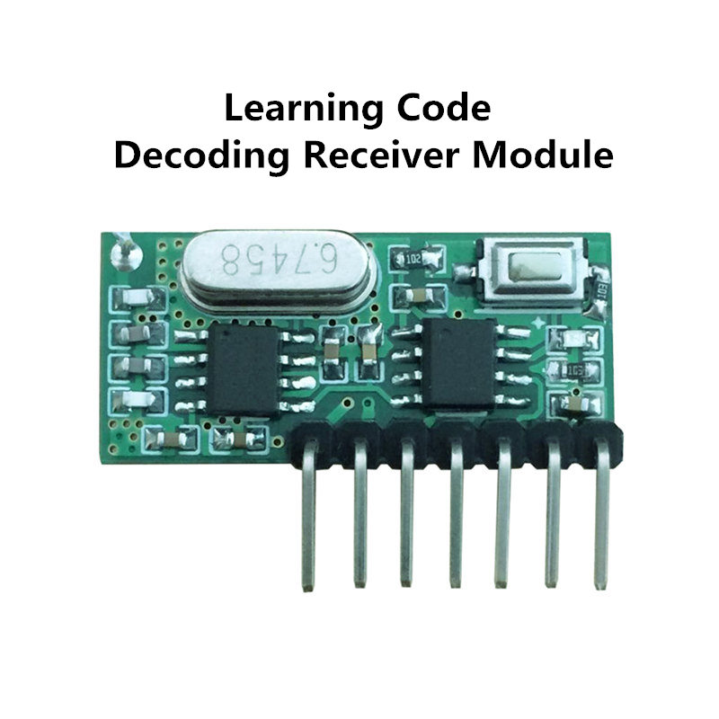 buy 433mhz rf receiver learning code decoder module 433 mhz wireless 4 channel. Black Bedroom Furniture Sets. Home Design Ideas