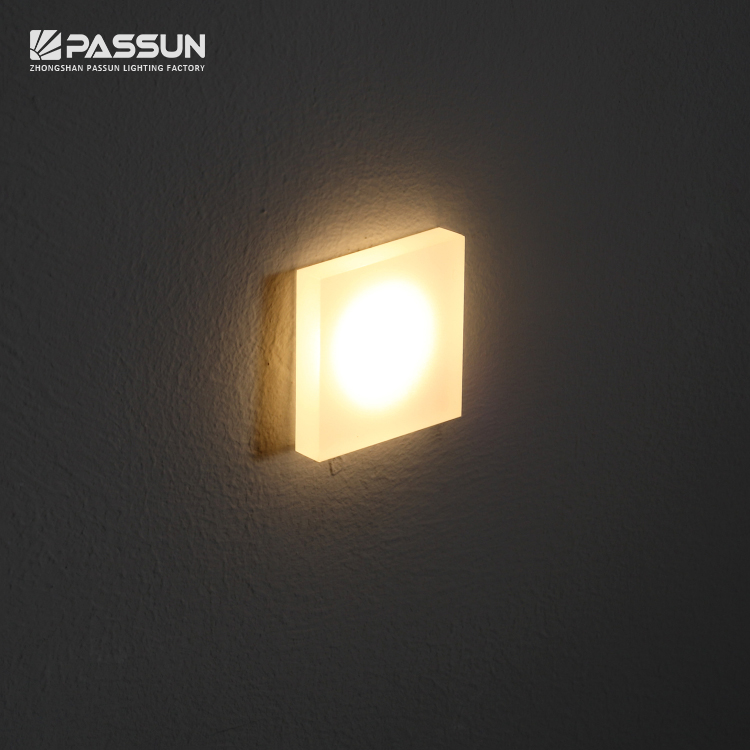 1w Acrylic Step Wall Lamp Night Lights Indoor Wall Light Wall Recessed Mounted Stair Light View Interior Wall Light Passun Product Details From Zhongshan Passun Lighting Factory On Alibaba Com