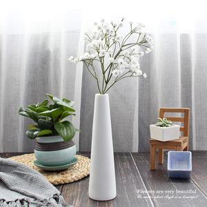 Custom Home Decoration Porcelain Ceramic White Flower Vase