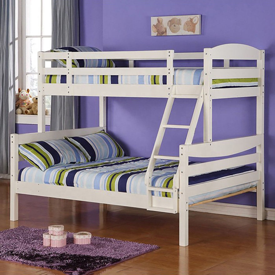 Pxel 69 High Quality Pine Wood Type White 4ft 6 Double On Bottom 3ft Single On Top Kids Bunk Bed Buy Cheap Price 3ft 4ft 6 5ftpine Wood Bed China Factory Pine Wood Triple Sleeper
