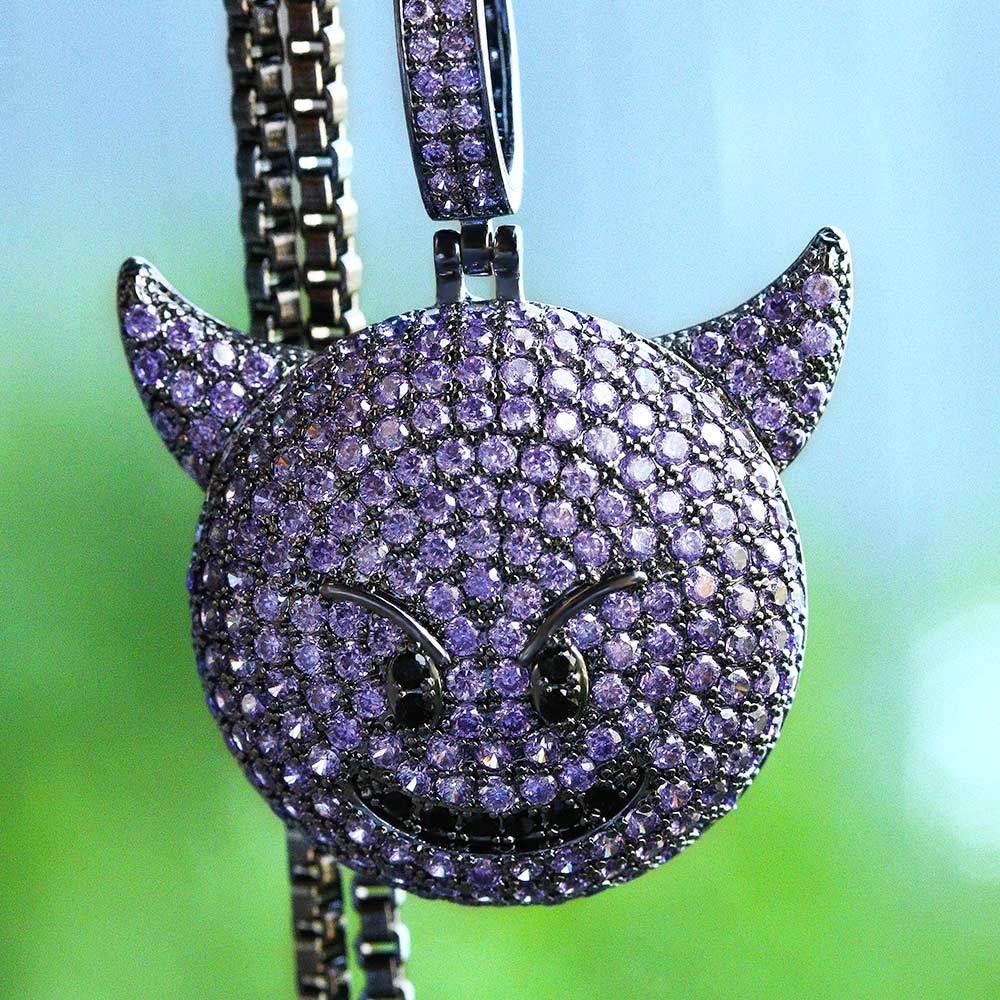 Iced Out Purple Devil Emoji