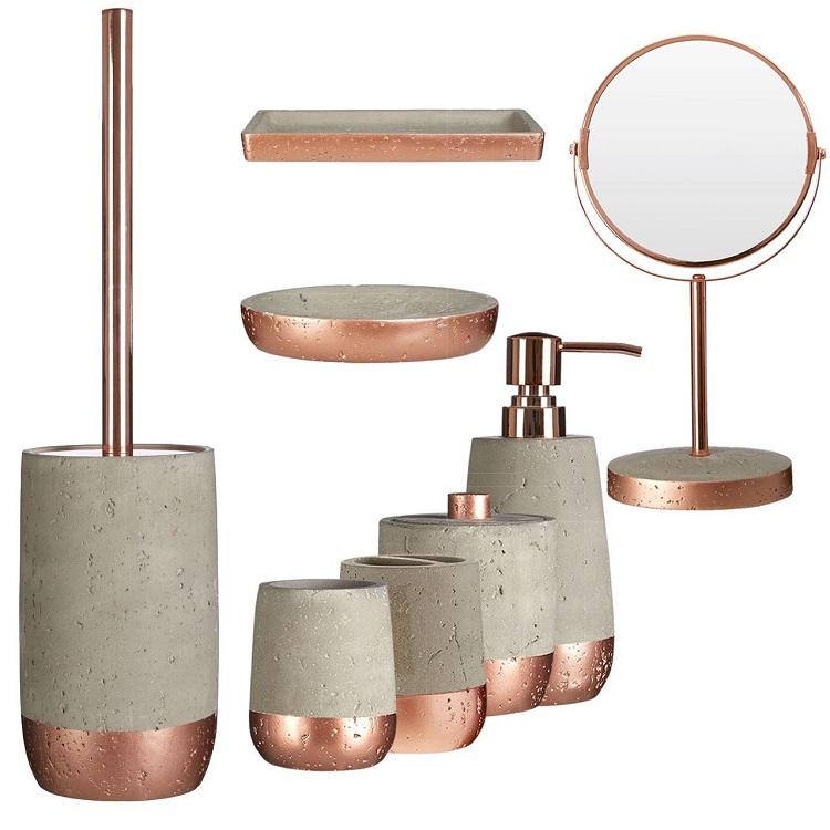 Rose Gold Hotel Decorative Cement Bathroom Accessories Sets Buy Hotel Bathroom Accessories Cement Bathroom Accessories Bathroom Sets Product On Alibaba Com