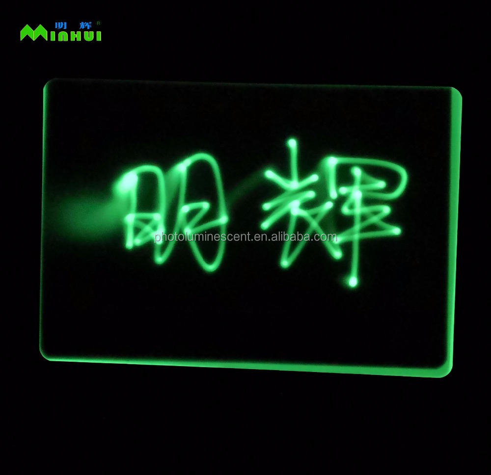 Glow In The Dark Drawing board With Different Color Blue Sky-Blue Orange