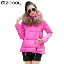 Gizmosy font b Winter b font Jacket Women Thicken Warm Coat Cotton padded Slim Plus Size