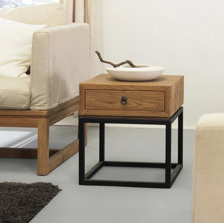 table de chevet simple. Black Bedroom Furniture Sets. Home Design Ideas