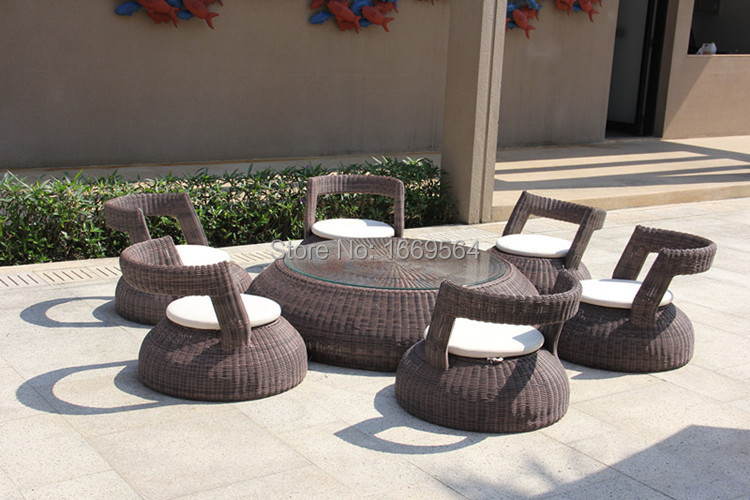 2015 New Designs Elegant Round Shaped Low Seating Garden