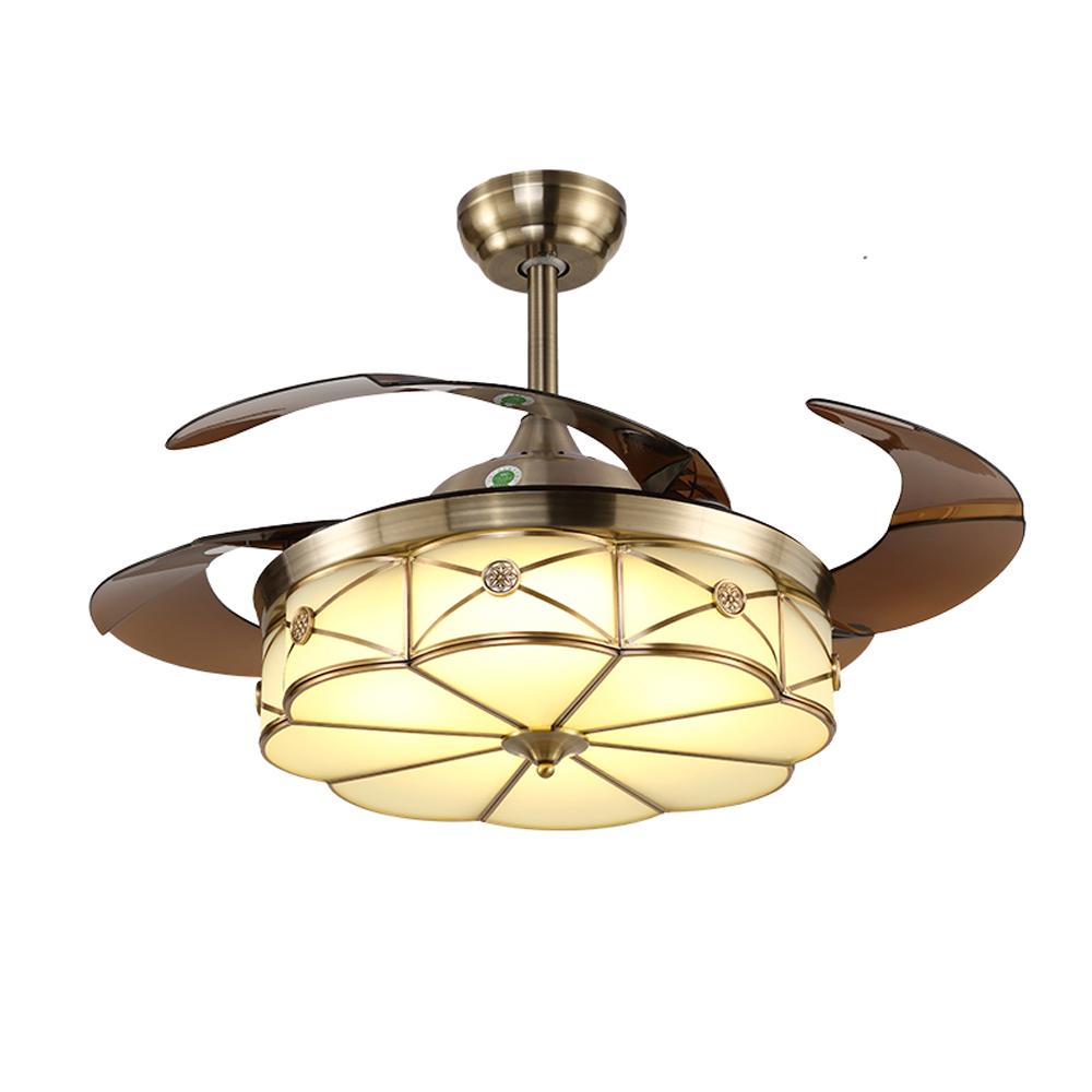 1stshine античный складной домашний современный потолочный вентилятор для комнаты-маскировки со светодиодными лампами и пультом дистанционного управления