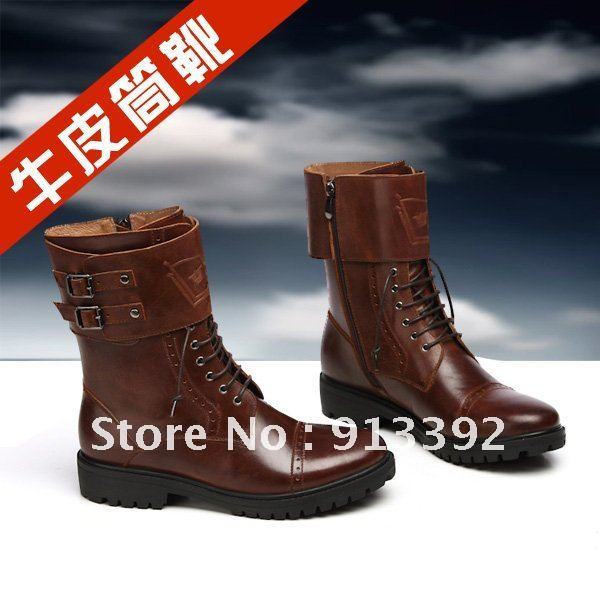 2012 new fashion super cool male boots outdoor cowboy