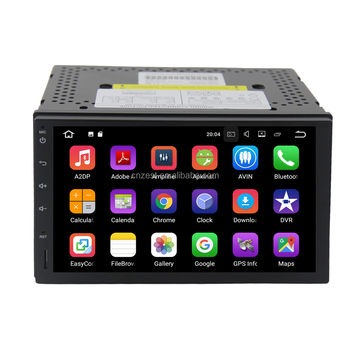 Full touch screen android car navigator multimedia system 2din universal android 10.0 car dvd player