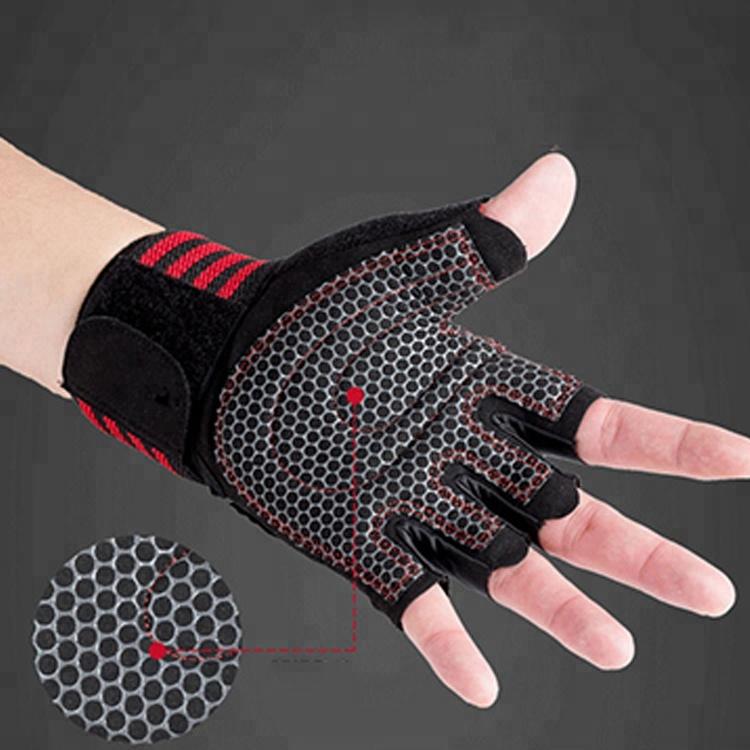 Эластичные перчатки на половину пальца для тяжелой атлетики