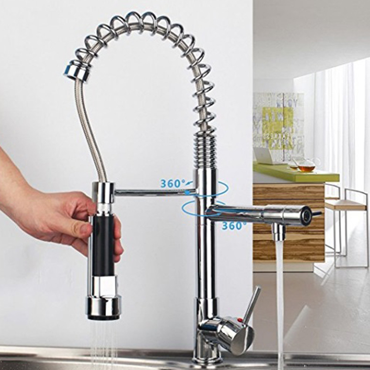 Pull Out Spring Loaded Kitchen Sink Mixer Tap Two Ways Of Outlet Water Faucet Sus304 With Bubbling Device And Strong Spray Buy Pull Out Spring Loaded Kitchen Sink Mixer Tap Two Ways
