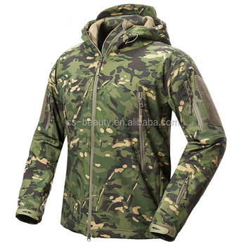 New Color Green Multicam Army Camo Coat Military Jacket Waterproof Windbreaker Raincoat Hunt Clothes Army Men Outerwear Jacket