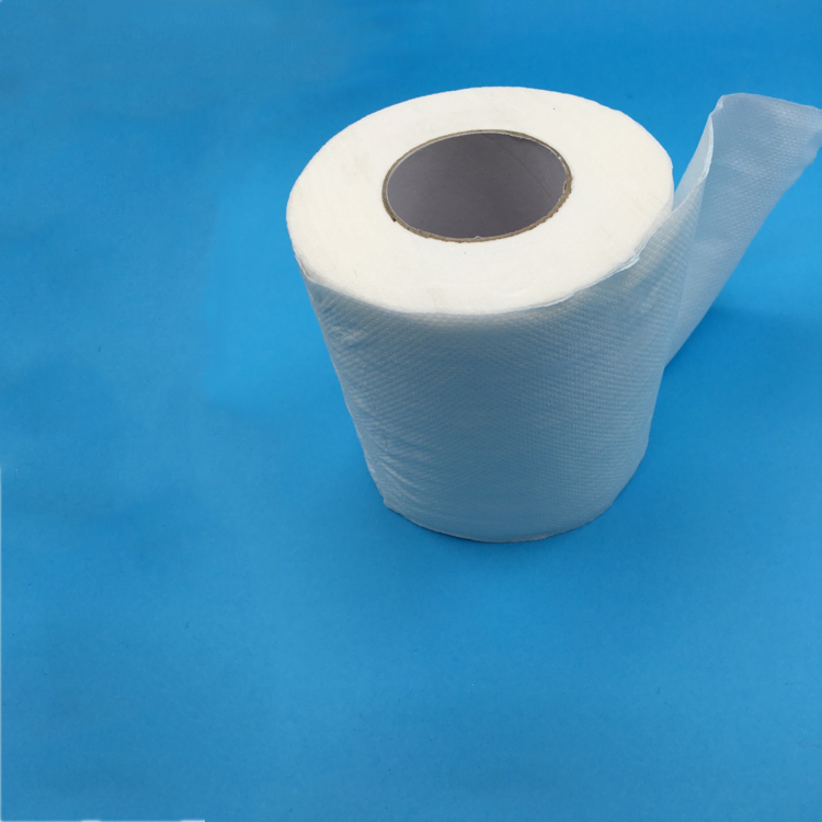 100% Recycle Pulp White Toilet Tissue High Quality Toilet Roll Custom Embossing Toilet Paper
