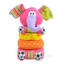Детские мягкие погремушки, плюшевые мобильные кольца, колокольчики, шуршание, бумага, цветные Слоники, игрушки для укладки, обучающие игруш...(Китай)