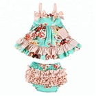 New Product Little Girl Clothing Baby Swing Top Set Breathable Summer Baby Kids Clothes