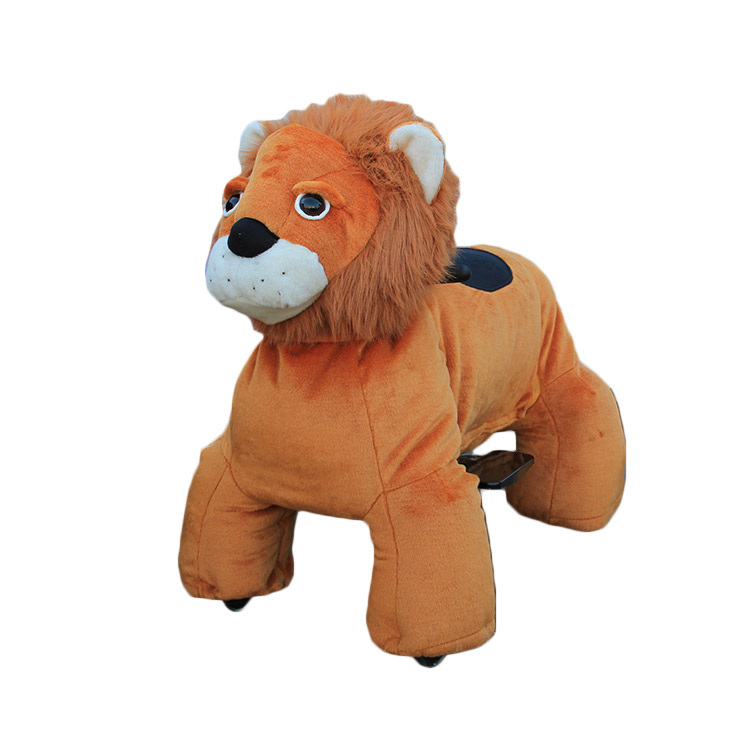 amusement coin operated ride sale electric cute plush zoo ride on animal for mall