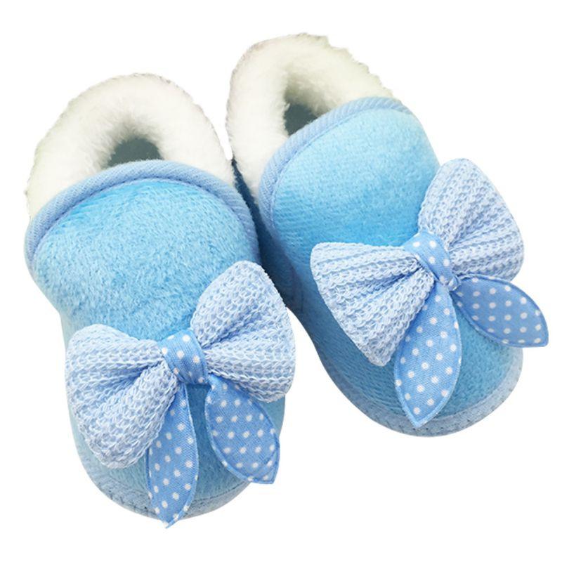 2019 Toddler Warm First Walker Butterfly Knot Winter Boots Soft Sole ... 78d316ce867f