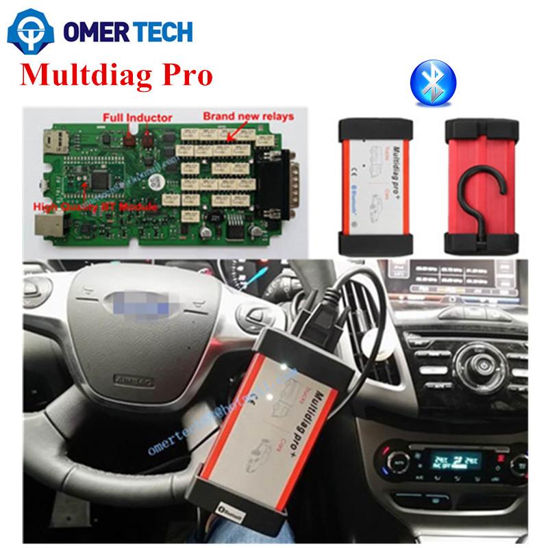 Dhl бесплатная! Multidiag Pro + Bluetooth диагностический инструмент , как как TCS CDP автоматический сканер для автомобилей / грузовые 2014 R3 без кейген