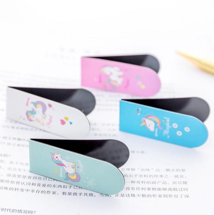 Милые Мультяшные животные Единорог магнитная закладка креативный подарок мини-папка для книг