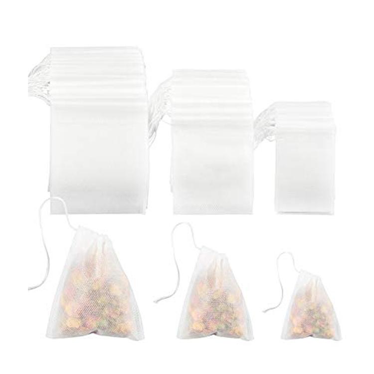 5*6 см пустые фильтры, биоразлагаемые чайные пакетики на шнурке с струнами