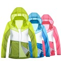 2016 New Womens Contrast Color Waterproof Camping Hiking Sun Protection Skin Jacket