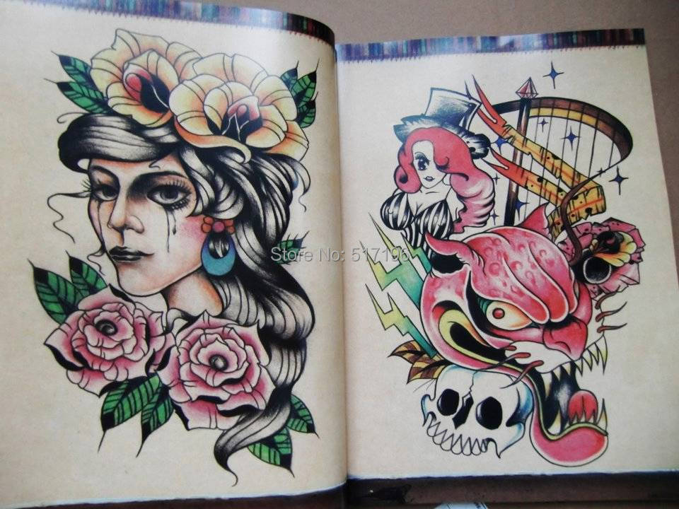 Wholesale New Oriental Style Girl Small Old School Tattoo ...