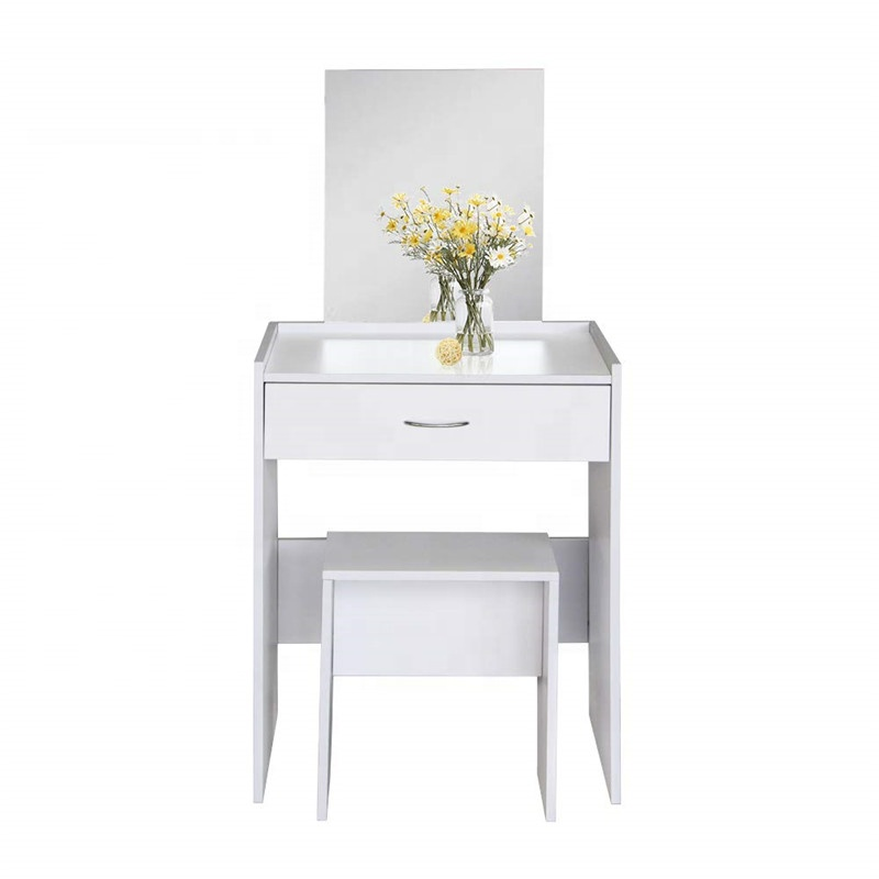 Modern Design Simple Style Melamine Mdf Makeup Dressing Table With Square Mirror And Stool Buy Dressing Table Makeup Dressing Table Dresser Desk Product On Alibaba Com