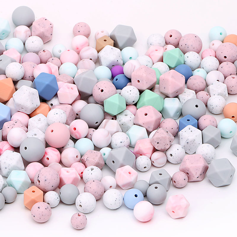 Fashion Jewelry Accessories Wholesale Silicone Teething Beads For Baby