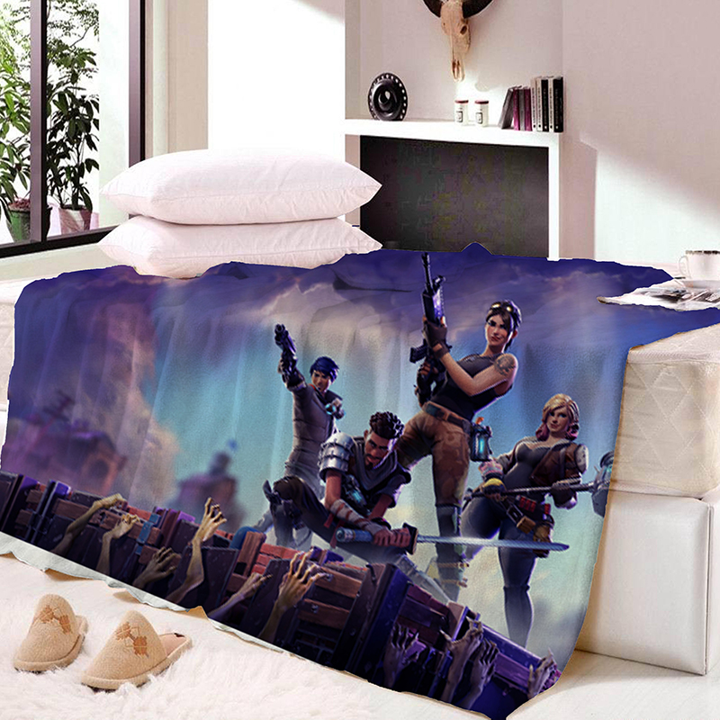 Fortnite Nights Throws Bedding Baby Kids Bed Home Bedroom