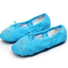 1716db2ca051c Pink Black White Green Blue Red Flesh Ballet Flats Canvas Mulheres with  Rhinstones Shoes for Girls