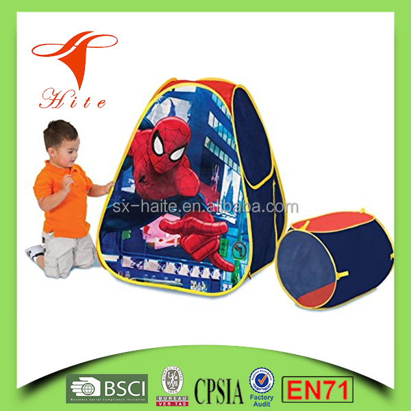 Folding Tent Child Pop Up Play Tent For Children Outdoor Camping Spiderman Kids House Tent