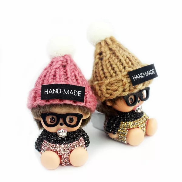 Wool Hat Doll Car Vent Perfume Clip, Lovely Baby Car Air Freshener, Wholesale of Auto Supplies