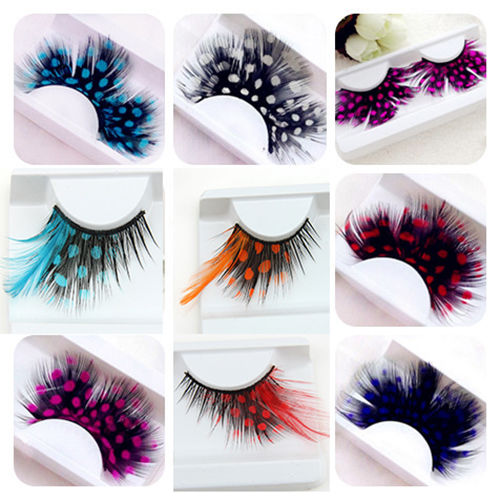 Detail Feedback Questions about Colorful Dot Feather Crazy False Eyelashes Long Costume Party Eye Lashes Cosplay on Aliexpress.com - alibaba group - 웹