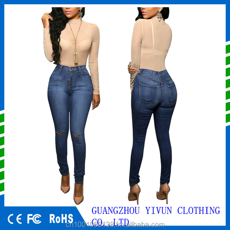 Women Pants Casual Trousers For Ladies Blue Ripped High Waist Skinny Denim Full Length Jeans Buy Skinny Denim Full Length Jeans Casual Trousers For Ladies High Waist Skinny Denim Product On Alibaba Com