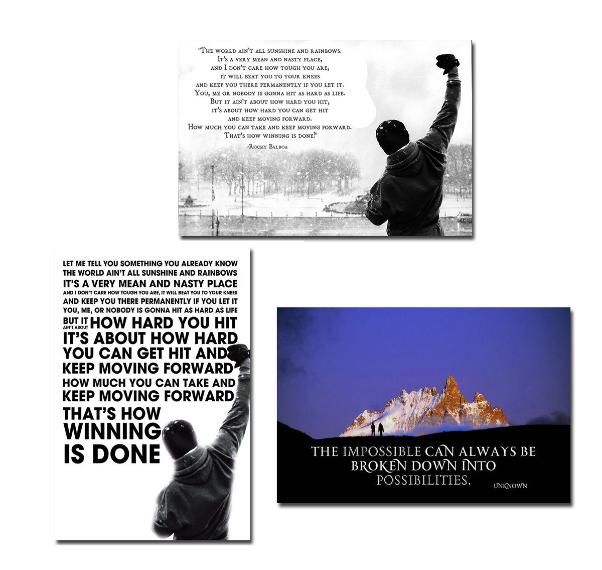 Inspirational Quotes Motivation: Rocky 3 Painting Reviews