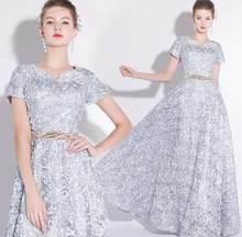 Женское кружевное вечернее платье Ladybeauty, простое длинное платье без рукавов с мелкими цветами на выпускной, 2019(Китай)