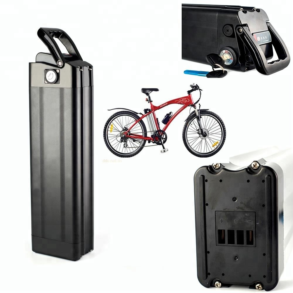 48V 20AH Lithium Battery Silver Fish Type 18650 Battery Pack with USB for Electric Bikes