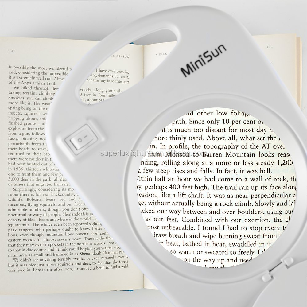 Top quality european simple design plastic desk portable magnifying lamp