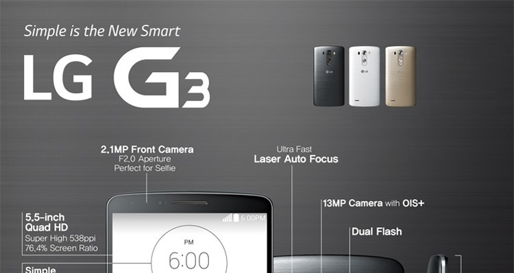 Original Unlocked Refurbished LG G3 D855 Cell phones 5 5